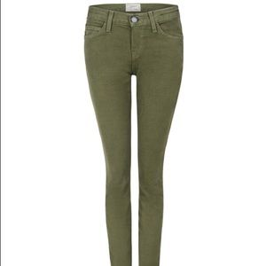 Current/Elliott the ankle skinny jeans army green
